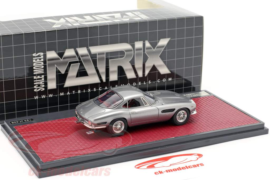 Ferrari 250 Passo Corto Lusso Bertone Sharknose 1962 grey metallic 1:43 Matrix