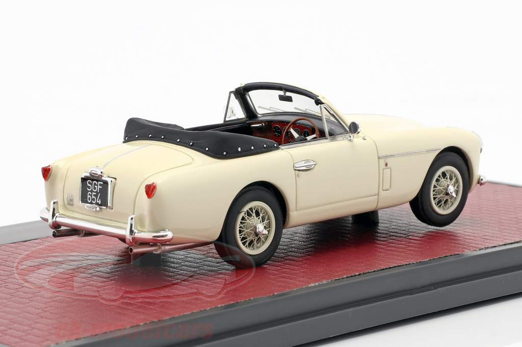 Aston Martin DB2/4 MK II DHC by Tickford Open Top 1955 crème wit 1:43 Matrix