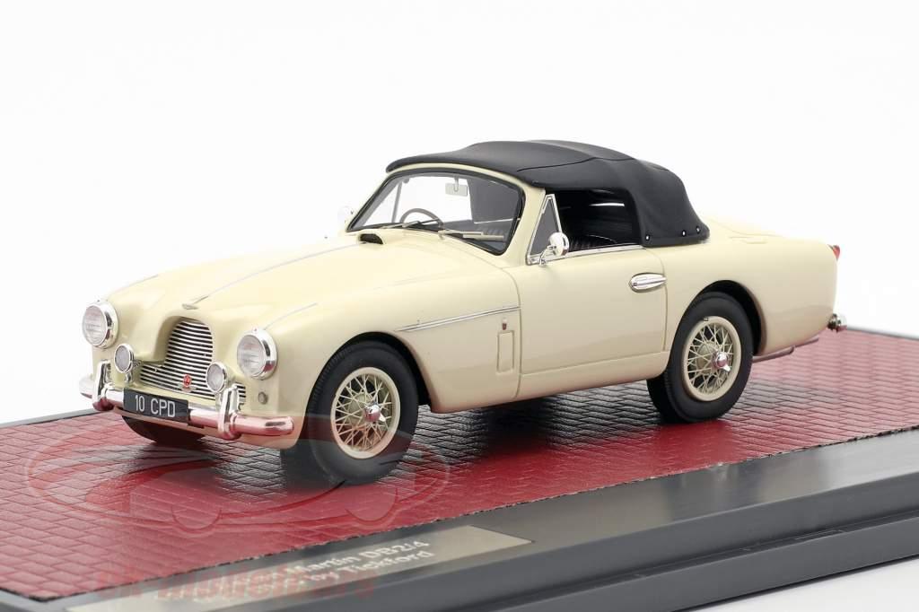 Aston Martin DB2/4 MK II DHC by Tickford Closed Top 1955 cream white 1:43 Matrix