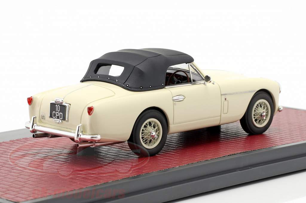 Aston Martin DB2/4 MK II DHC by Tickford Closed Top 1955 creme branco 1:43 Matrix