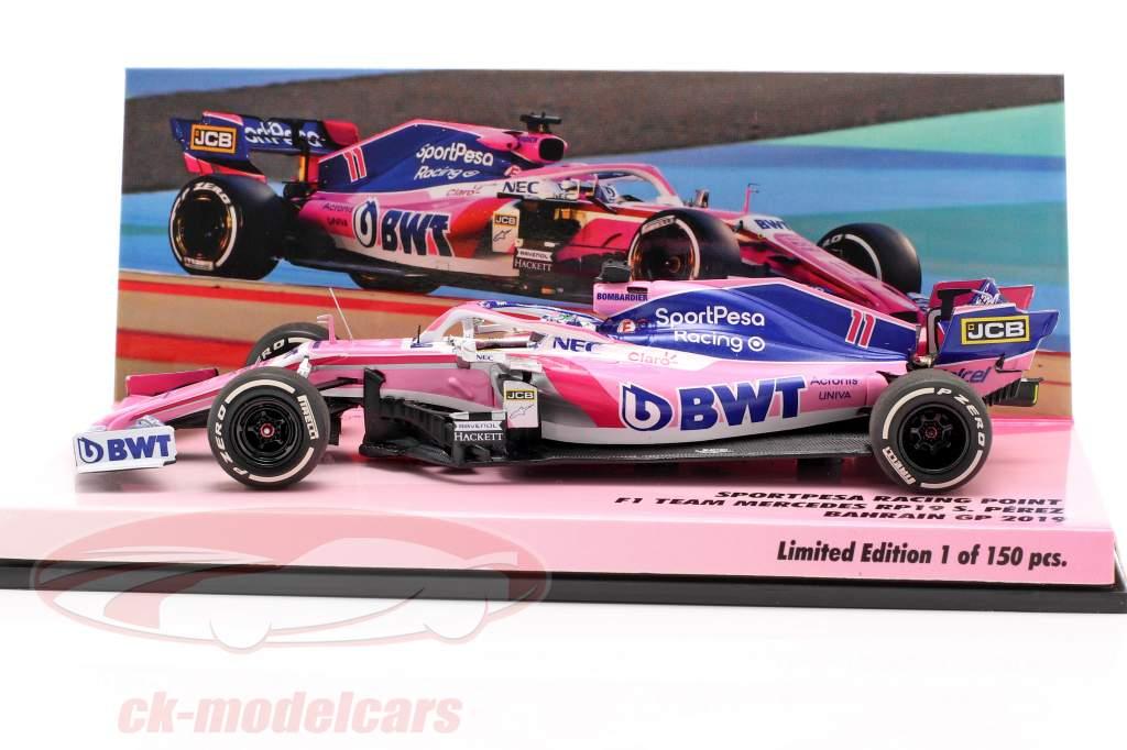 Sergio Perez Racing Point RP19 #11 Bahrein GP fórmula 1 2019 1:43 Minichamps