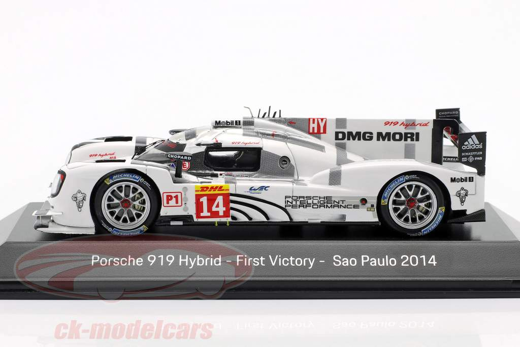 Porsche 919 Hybrid #14 First Victory Sao Paulo 2014 Dumas, Jani, Lieb 1:43 Spark