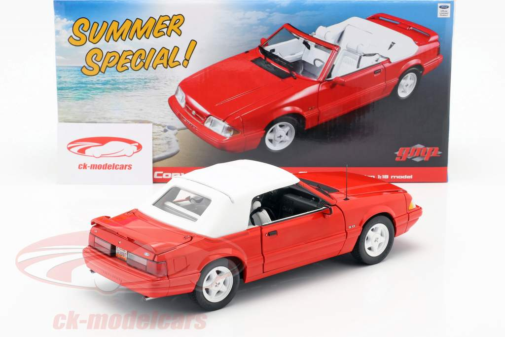 Ford Mustang LX Convertible Baujahr 1992 rot 1:18 GMP