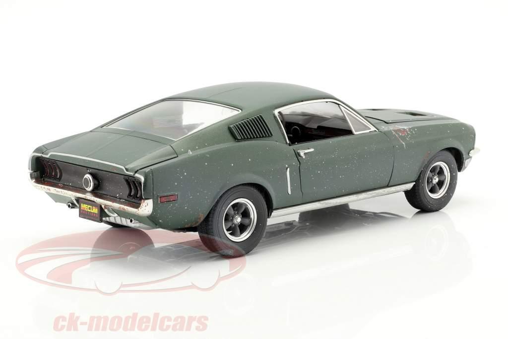 Ford Mustang GT Fastback unrestored Steve McQueen filme Bullitt (1968) verde 1:18 Greenlight