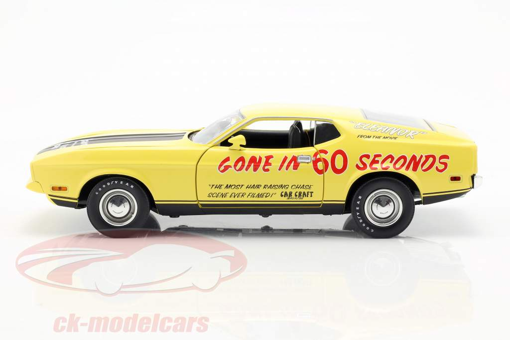 Ford Mustang Mach 1 Eleanor Movie Gone in 60 Seconds (1974) yellow 1:18 Greenlight