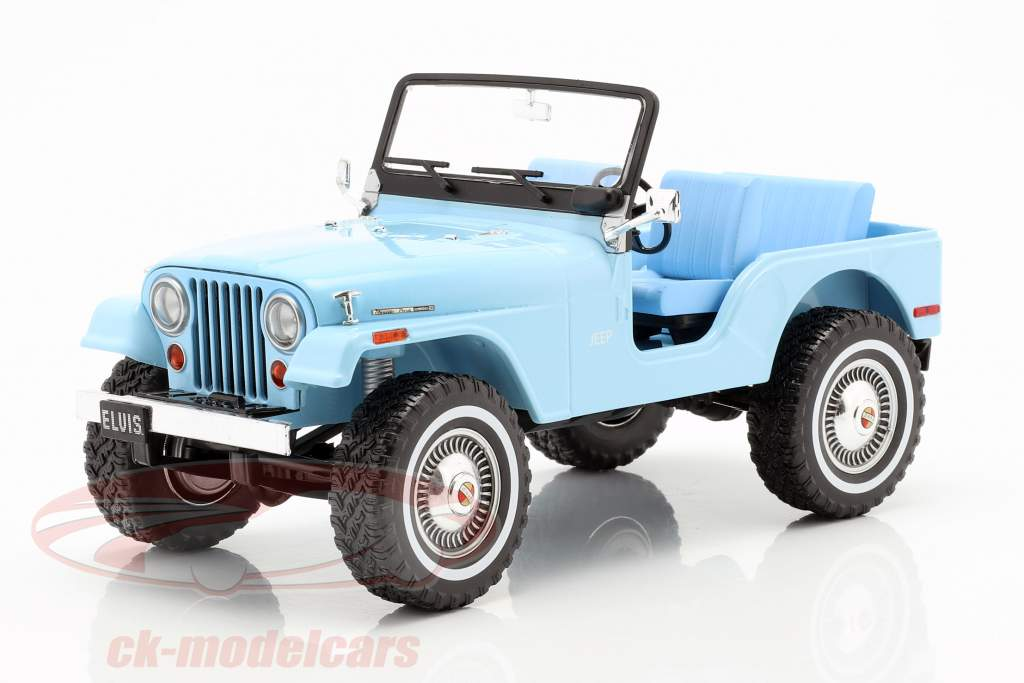 Jeep CJ-5 Elvis Presley 1935-1977 sierra blu 1:18 Greenlight