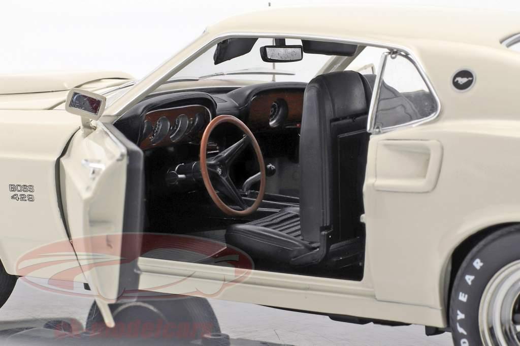 Ford Mustang Boss 429 Baujahr 1969 weiß 1:18 Greenlight