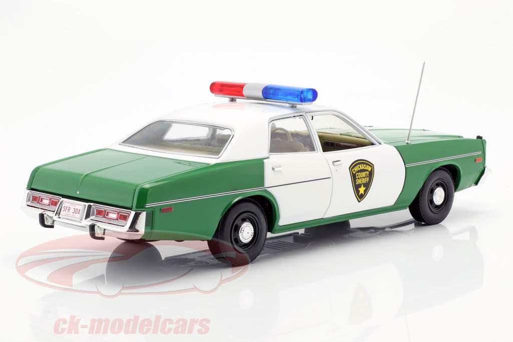 Plymouth Fury Chicksaw County Sheriff 1975 verde / branco 1:18 Greenlight