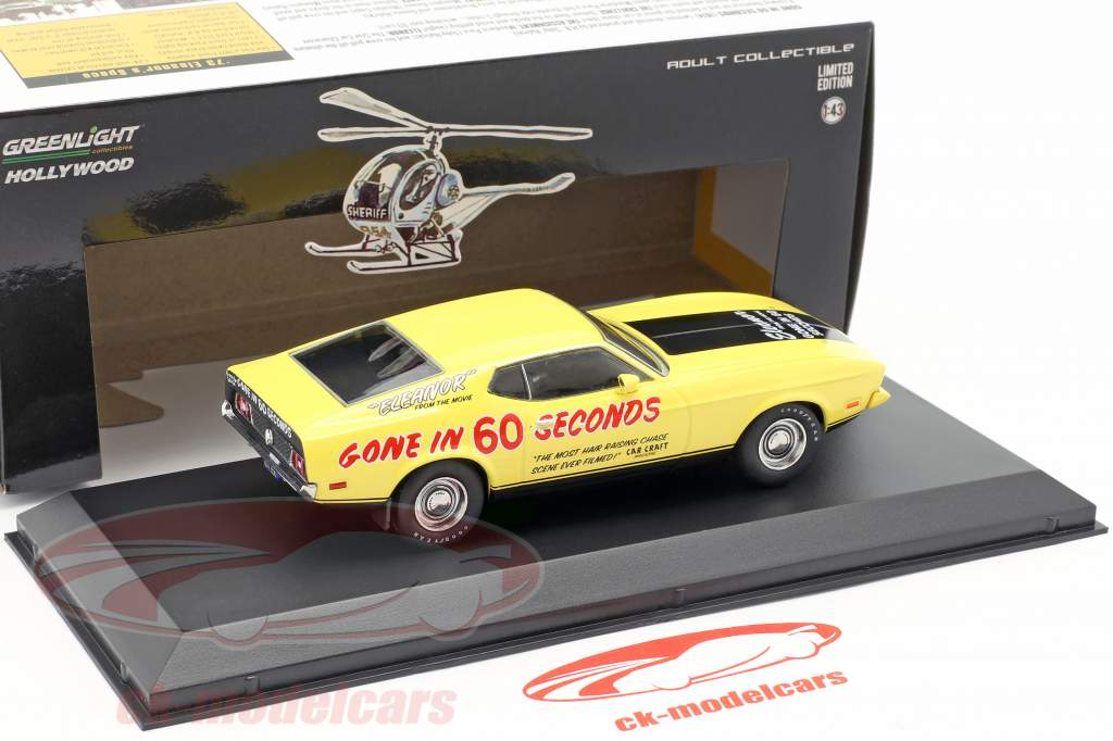 Ford Mustang Mach 1 Eleanor filme Gone in 60 Seconds (1974) amarelo 1:43 Greenlight