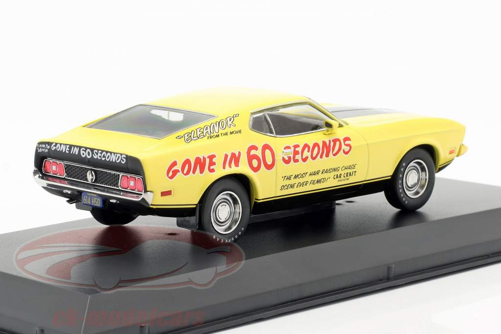 Ford Mustang Mach 1 Eleanor film Gone in 60 Seconds (1974) giallo 1:43 Greenlight