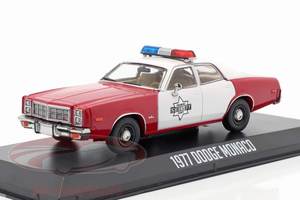 Dodge Monaco Finchburg County Sheriff 1977 rosso / bianco 1:43 Greenlight