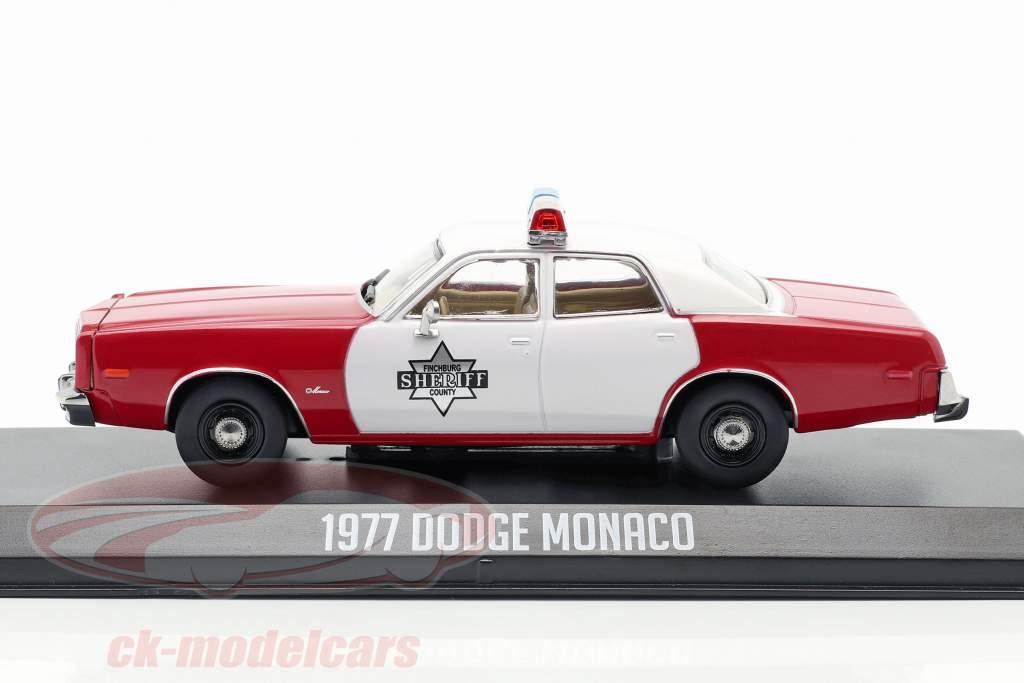 Dodge Monaco Finchburg County Sheriff 1977 vermelho / branco 1:43 Greenlight