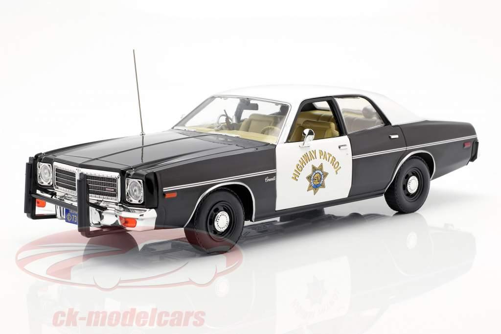 Dodge Coronet California Highway Patrol 1975 black / white 1:18 Greenlight