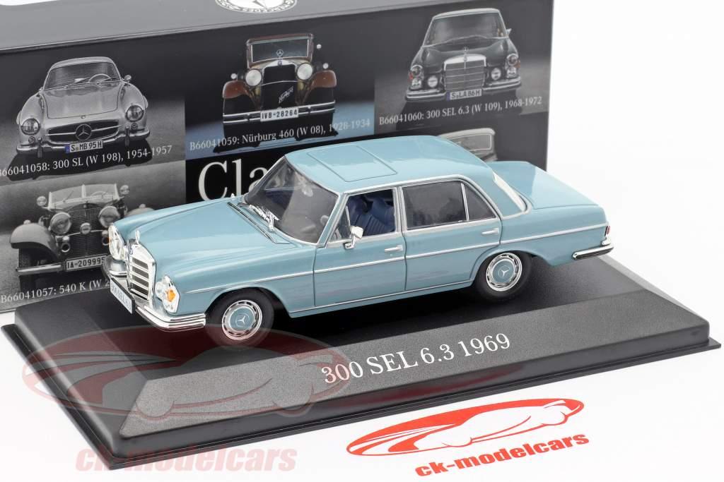 Mercedes-Benz 300 SEL 6.3 (W109) year 1968-1972 light blue 1:43 Premium Collectibles