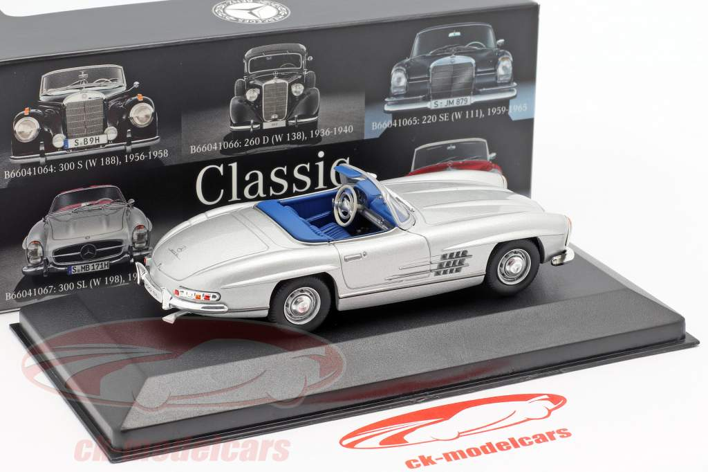 Mercedes-Benz 300 SL Roadster (W198) Baujahr 1957-1963 silber 1:43 Premium Collectibles
