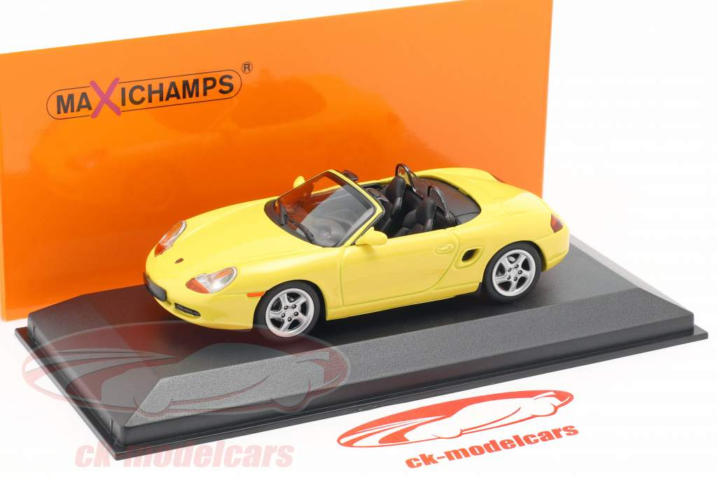 Porsche Boxster S Cabriolet Baujahr 1999 gelb 1:43 Minichamps