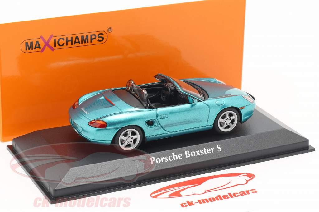 Porsche Boxster S Cabriolet Baujahr 1999 türkis metallic 1:43 Minichamps