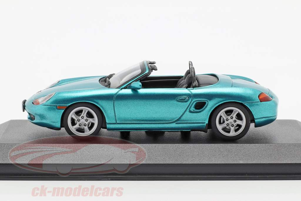 Porsche Boxster S cabriolet anno di costruzione 1999 turchese metallico 1:43 Minichamps