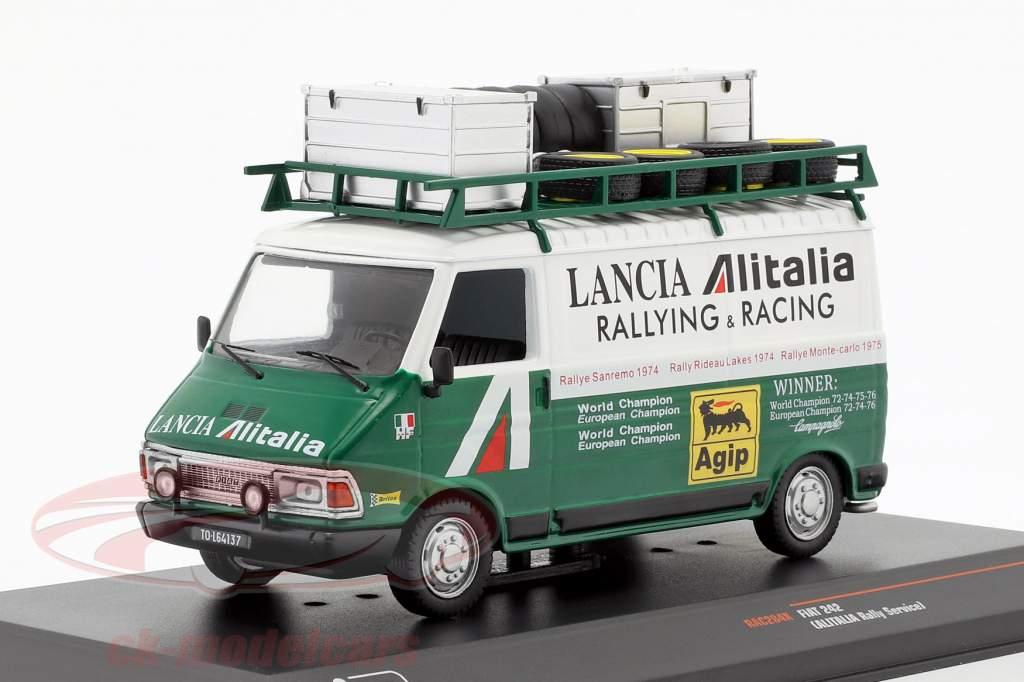 Fiat 242 van Alitalia Lancia Rallye Service 1974 green / white 1:43 Ixo