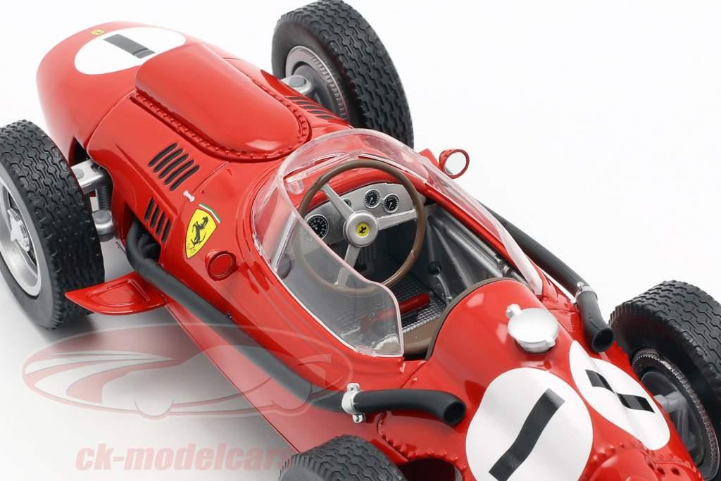Peter Collins Ferrari Dino 246 #1 winnaar Brits GP formule 1 1958 1:18 CMR