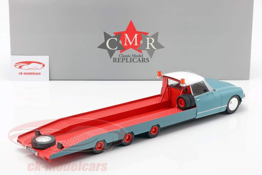 Citroen DS Tissier transporteur de voitures bleu / blanc / rouge année de construction 1970 1:18 CMR