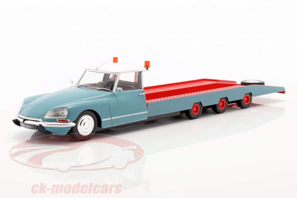 Citroen DS Tissier Autotransporter blau / weiß / rot Baujahr 1970 1:18 CMR