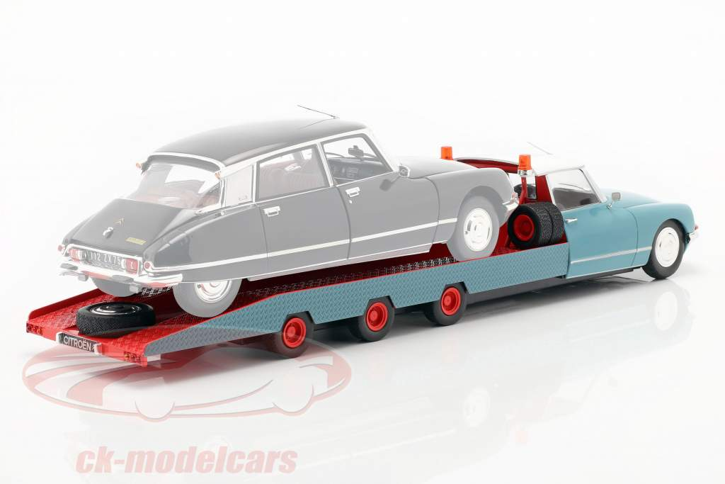 Citroen DS Tissier car transporter blue / white / red  year 1970 1:18 CMR