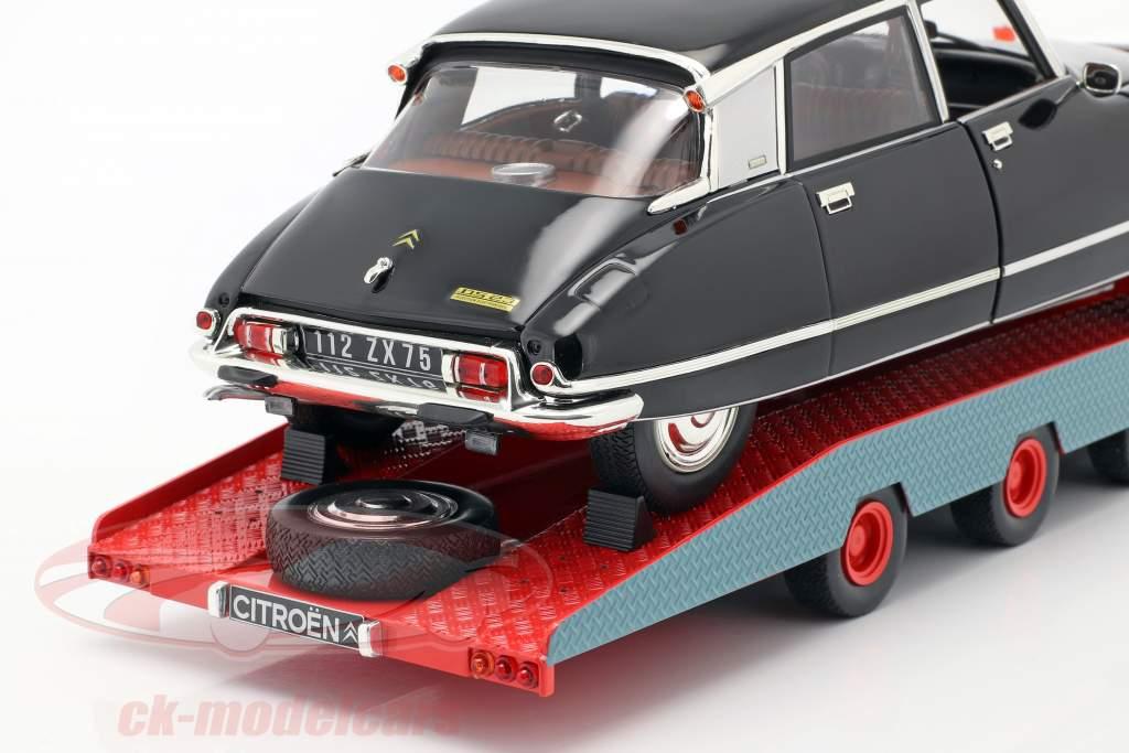 Citroen DS Tissier transportador de carro azul / branco / vermelho ano de construção 1970 1:18 CMR