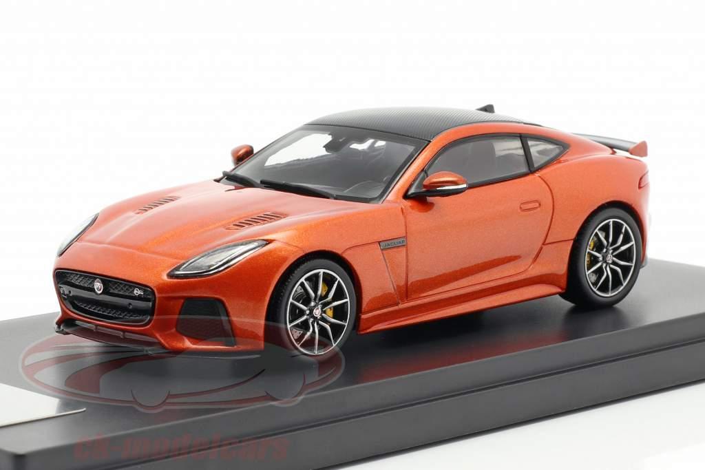 Jaguar F-Type SVR coupe year 2016 fire sand metallic 1:43 TrueScale