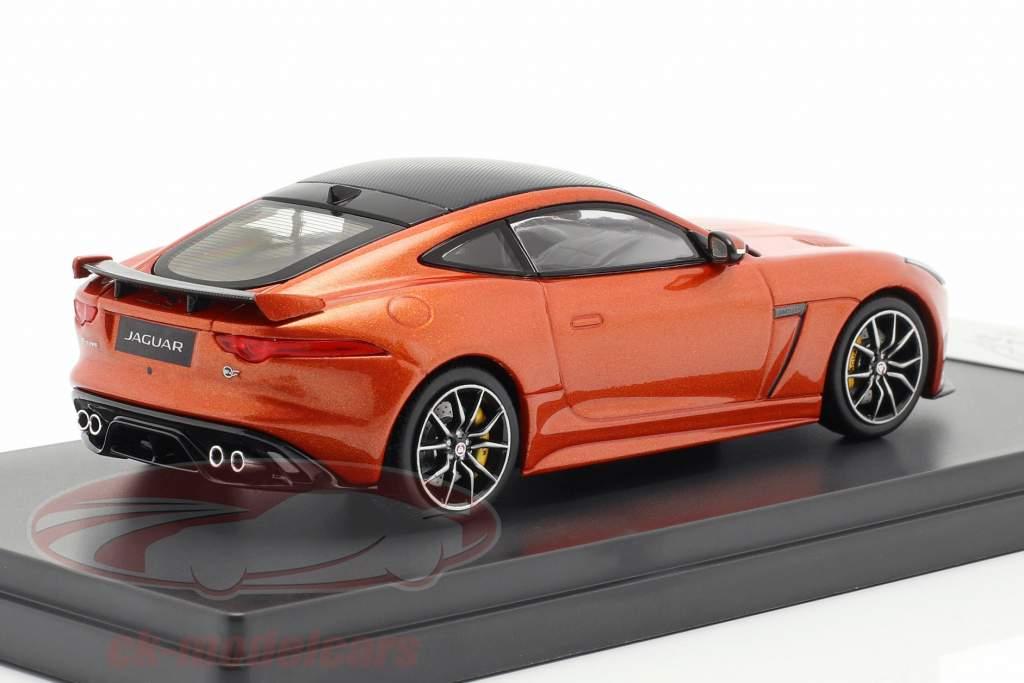 Jaguar F-Type SVR coupe anno di costruzione 2016 fuoco di sabbia metallico 1:43 TrueScale