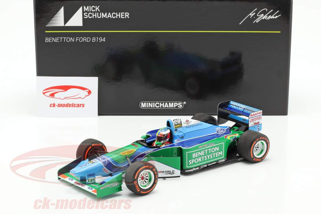 Mick Schumacher Benetton B194 #5 Demo Run GP Spa fórmula 1 2017 1:18 Minichamps