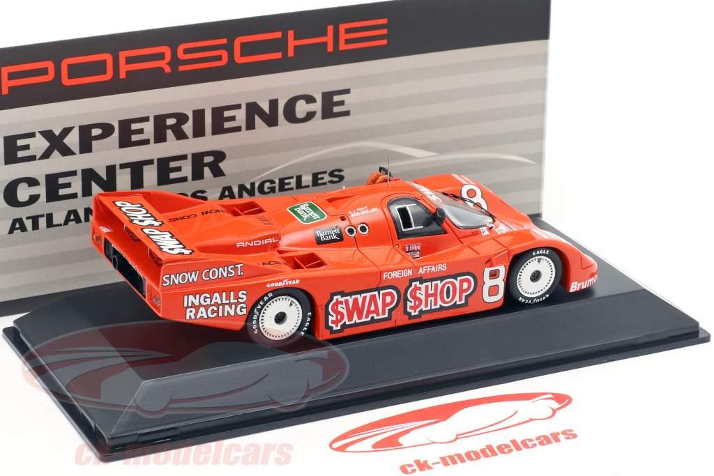 Porsche 962 #8 Ganador 12h Sebring 1985 Wollek, Foyt 1:43 Spark