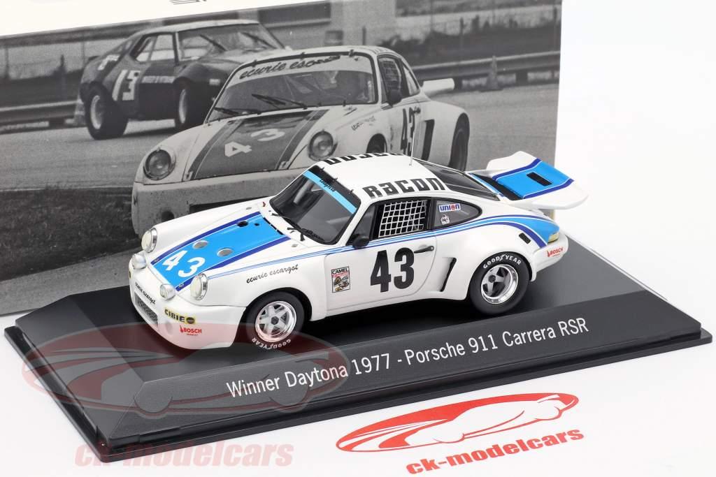 Porsche 911 Carrera RSR #43 Winnaar 24h Daytona 1977 Ecurie Escargot 1:43 Spark