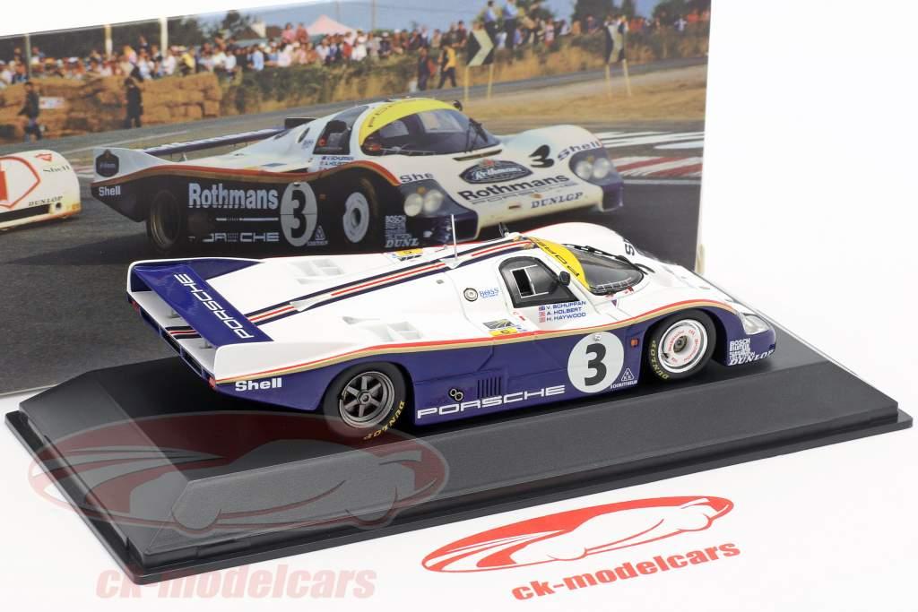 "Spark 1//18-1983 Porsche 956 /""Rothmans/"" Winner Le Mans Holbert-Haywood-Schuppan"