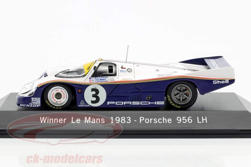 Porsche 956 LH #3 Ganador 24h LeMans 1983 Schuppan, Holbert, Haywood 1:43 Spark