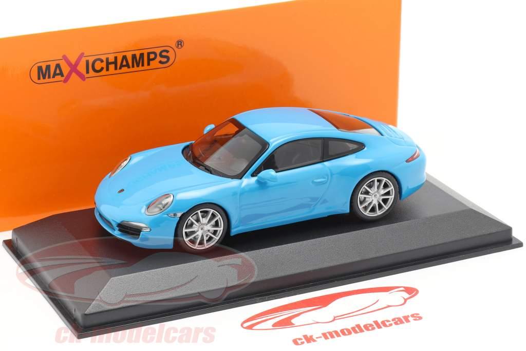 Porsche 911 (991) Carrera S année de construction 2012 bleu 1:43 Minichamps