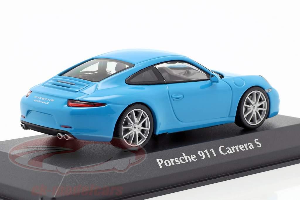 Porsche 911 (991) Carrera S año de construcción 2012 azul 1:43 Minichamps
