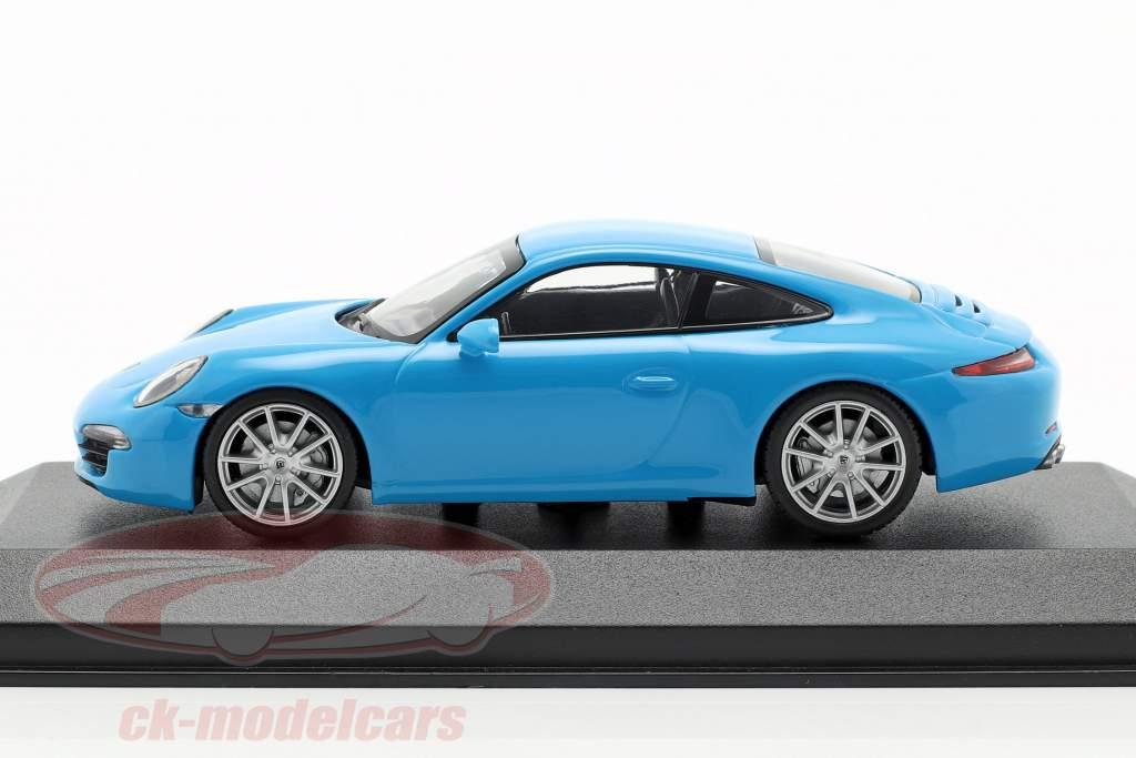 Porsche 911 (991) Carrera S Opførselsår 2012 blå 1:43 Minichamps