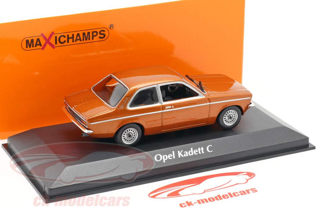 Opel Kadett C année 1974 bronze métallique 1:43 Minichamps