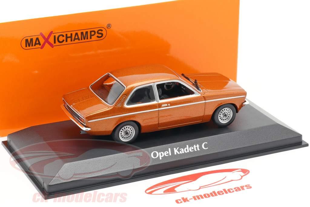 Opel Kadett C ano 1974 bronze metálico 1:43 Minichamps