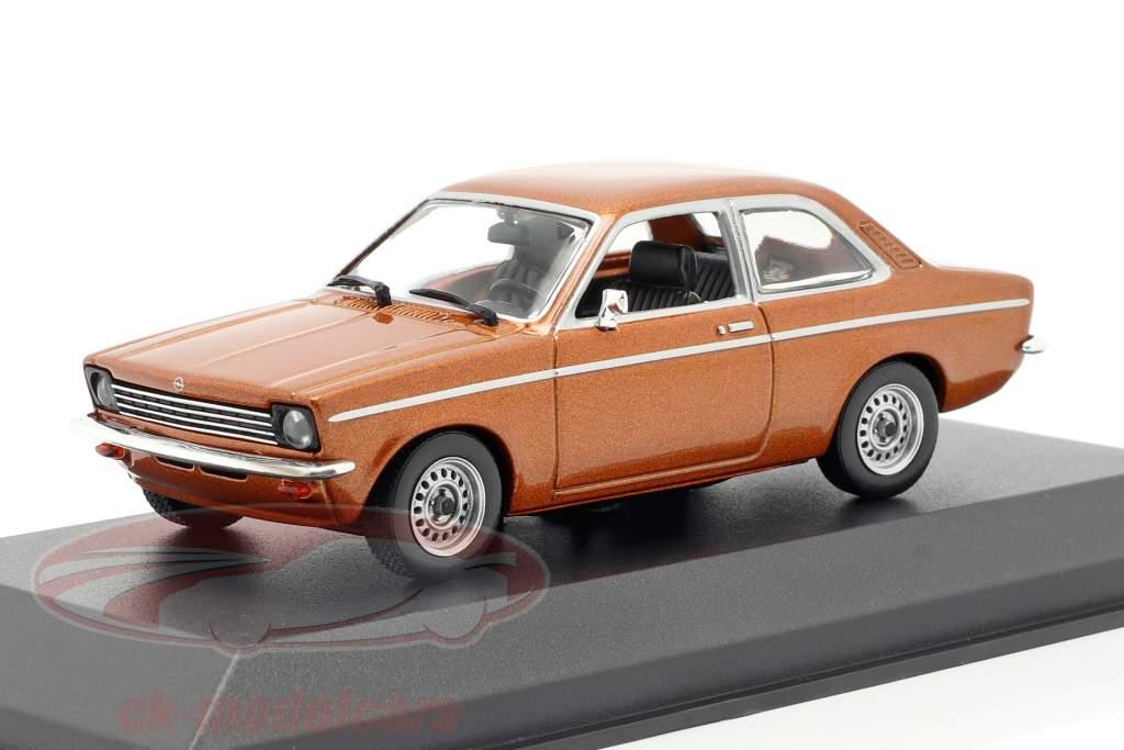 Opel Kadett C jaar 1974 bronzen metalen 1:43 Minichamps