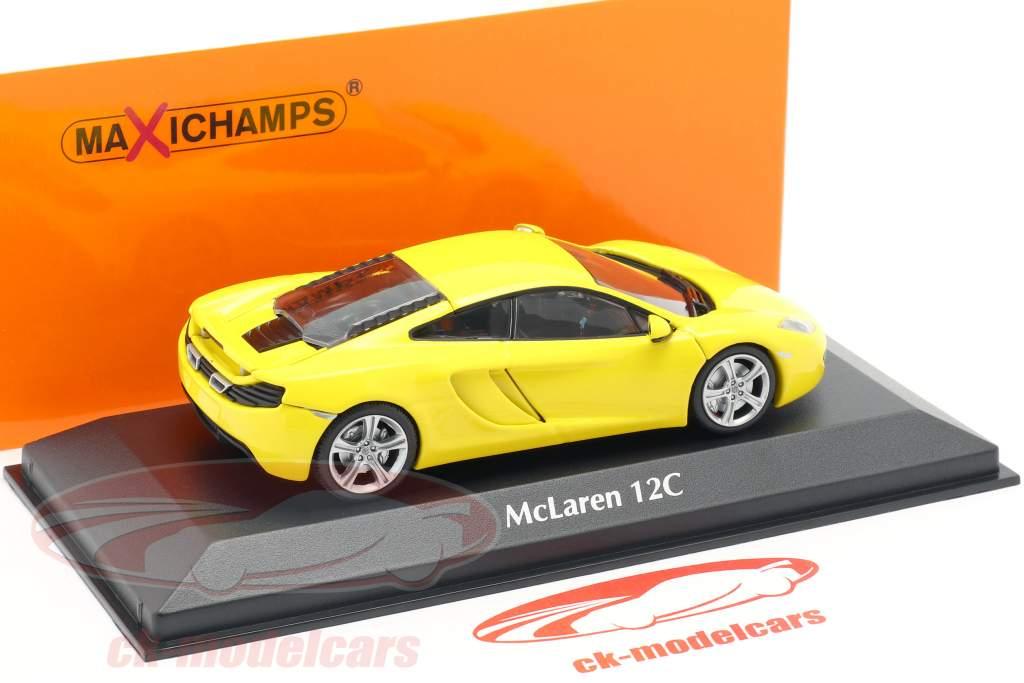McLaren 12C anno 2011 giallo 1:43 Minichamps