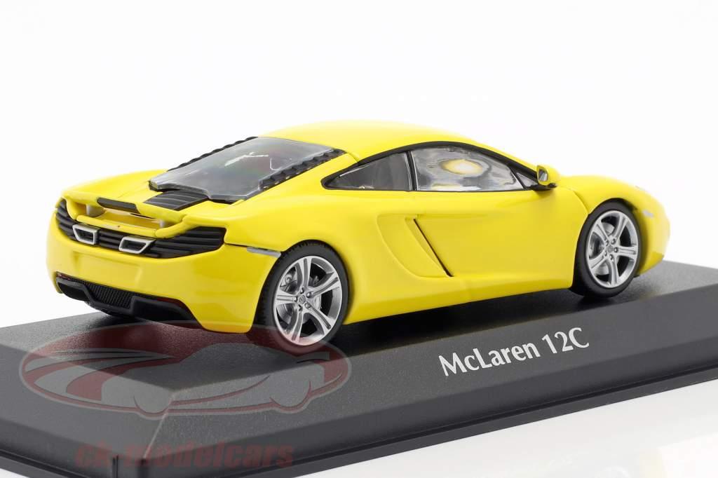 McLaren 12C jaar 2011 geel 1:43 Minichamps