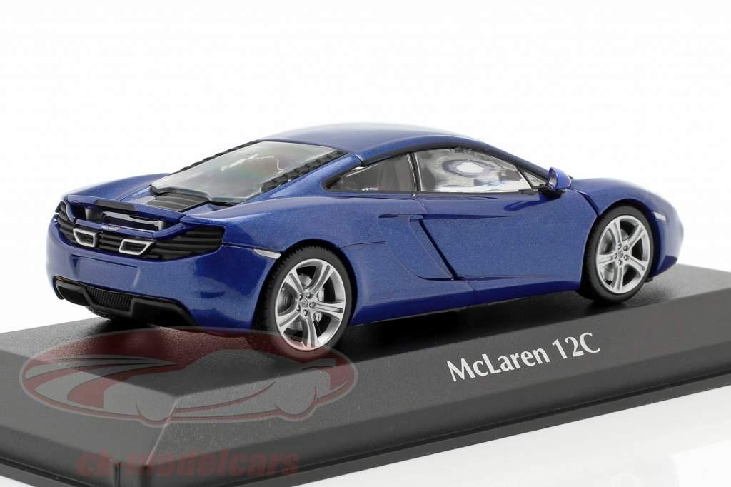 McLaren 12C jaar 2011 blauw 1:43 Minichamps