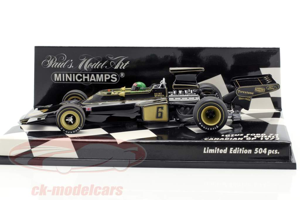 Reine Wisell Lotus 72 #6 Kanada GP Formel 1 1972 1:43 Minichamps