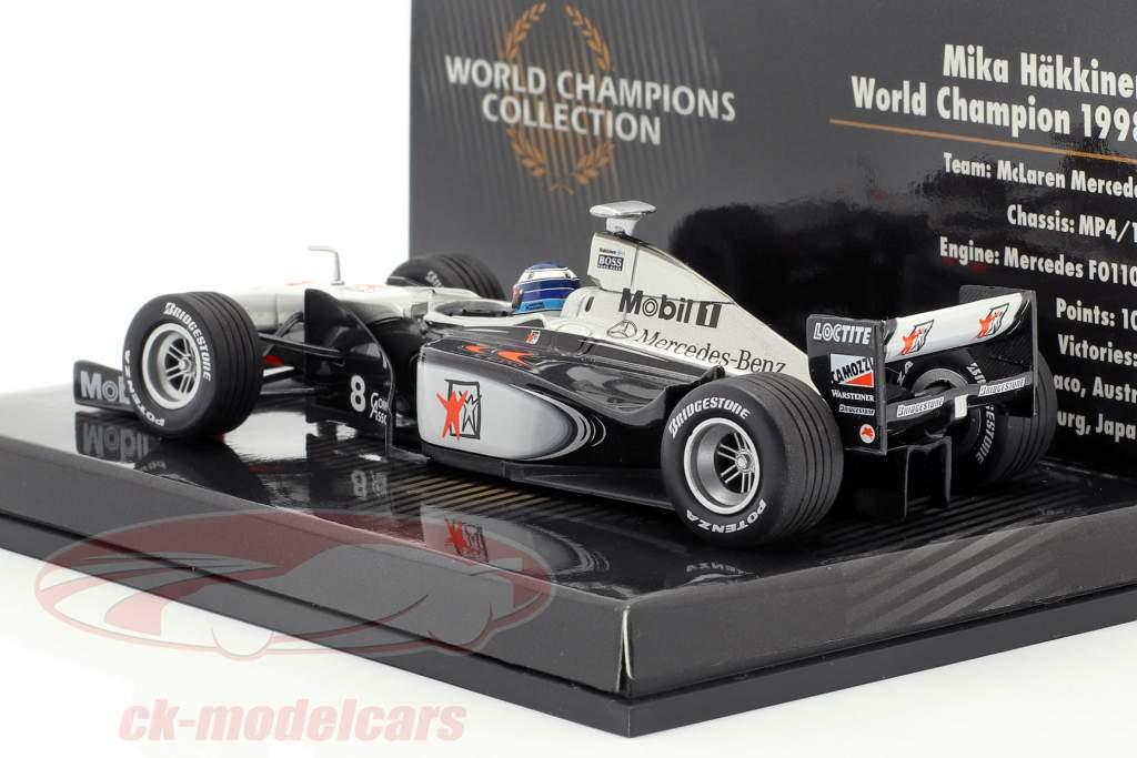 Mika Häkkinen McLaren Mercedes MP4/13 #8 Weltmeister Formel 1 1998 1:43 Minichamps
