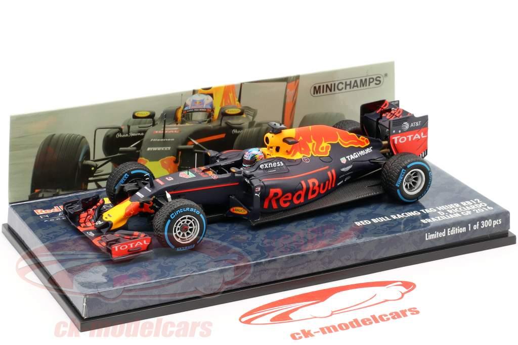 Daniel Ricciardo Red Bull RB12 #3 Brasile GP formula 1 2016 1:43 Minichamps