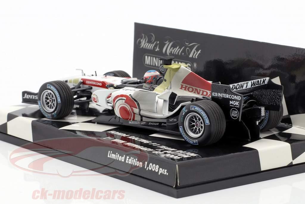 Jenson Button Honda RA106 #12 gagnant Hongrie GP formule 1 2006 1:43 Minichamps