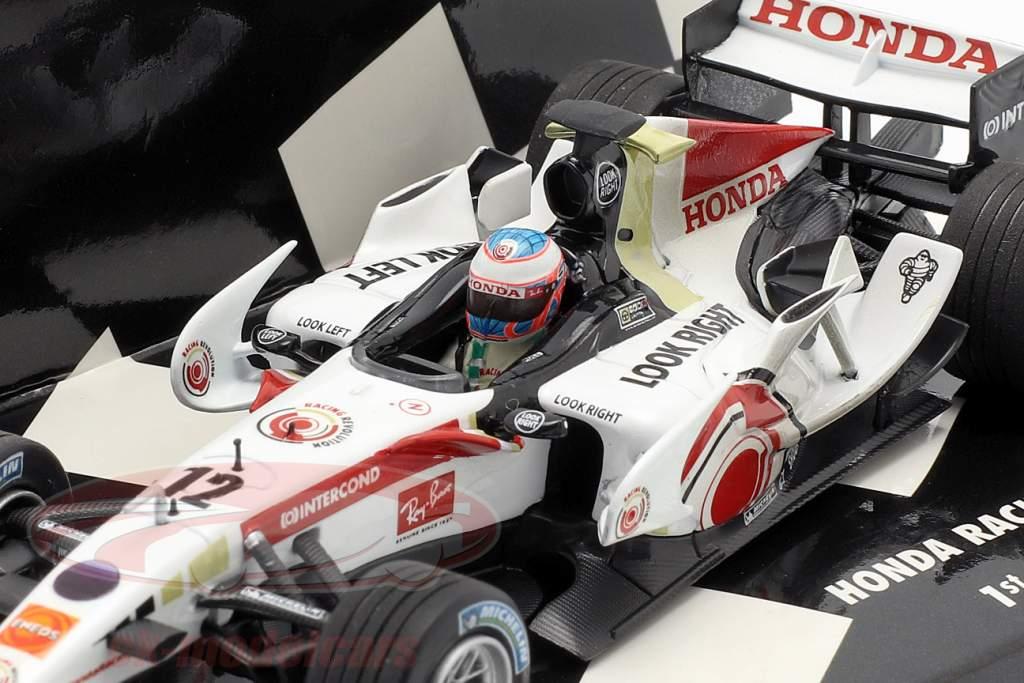 Jenson Button Honda RA106 #12 vencedor Hungria GP fórmula 1 2006 1:43 Minichamps