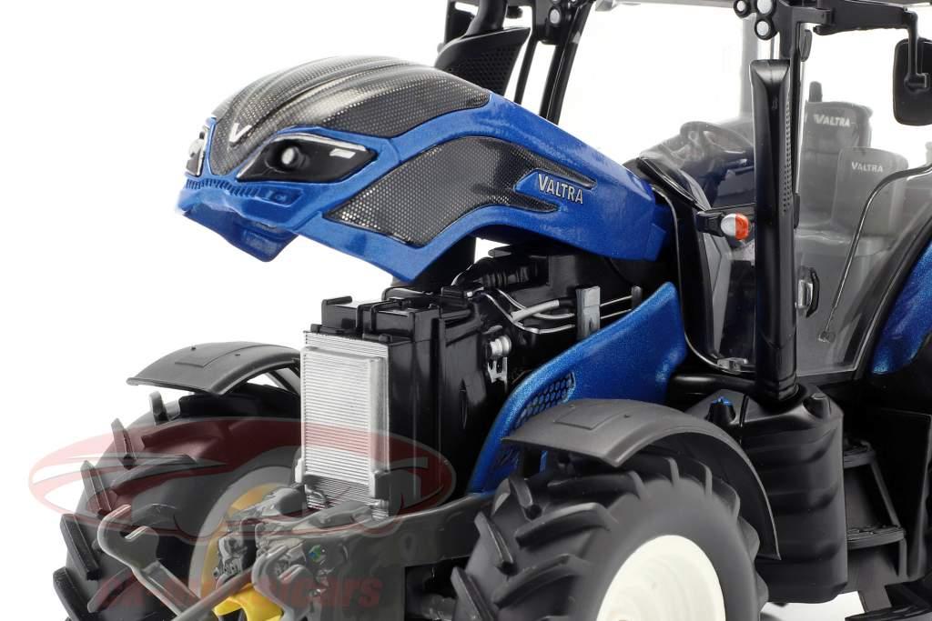 Valtra T214 trattore blu metallico / nero 1:32 Wiking